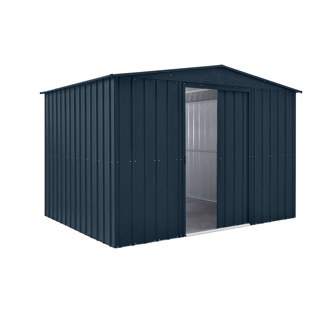 Lotus 10x10 Apex Metal Shed - Anthracite Grey Solid (New for 2021)