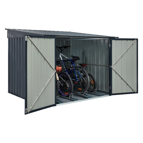 Lotus 6x6 Metal Bicycle Store  - Anthracite Grey Solid