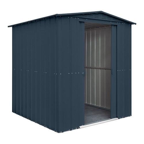 Lotus 6x6 Apex Metal Shed -  Anthracite Grey Solid (New For 2021)