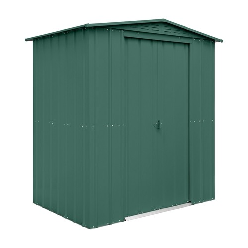 Lotus 6x4 Apex Metal Shed Heritage Green Solid