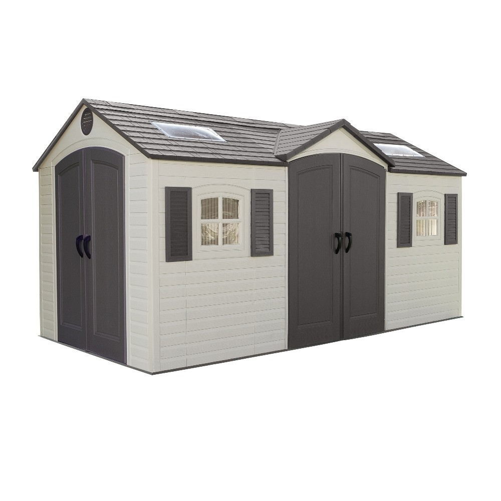 Lifetime Double Entrance15x8 Plastic Shed