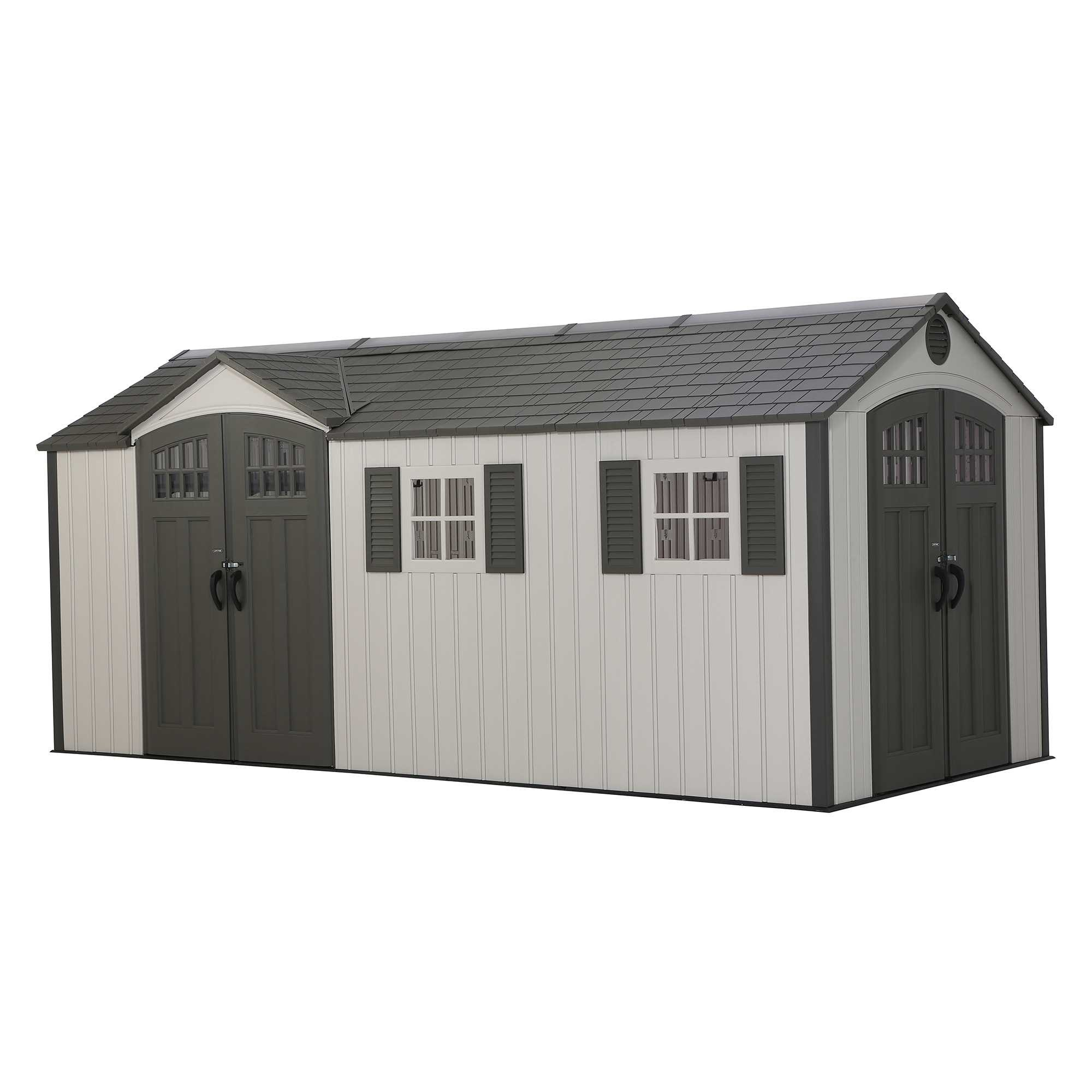 Lifetime 17.5x8 Dual Entrance Plastic Shed - New Edition (COMING SOON)
