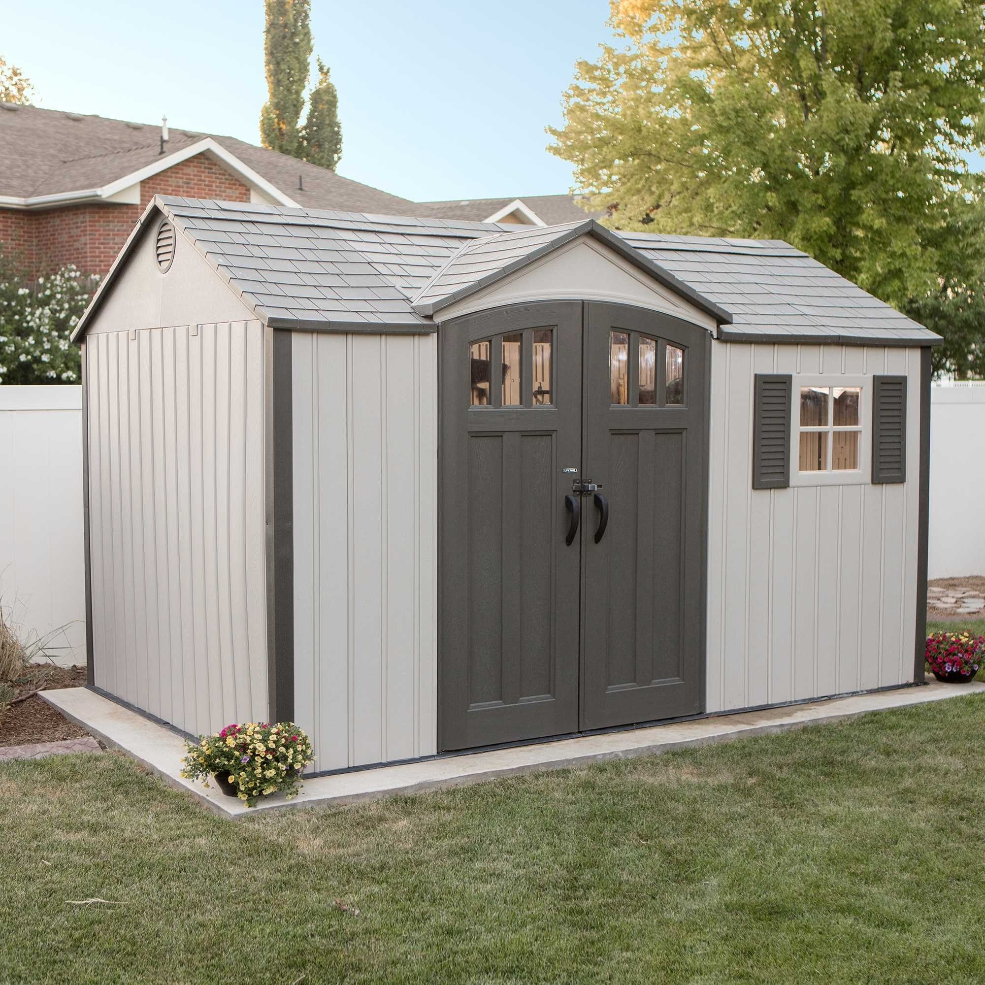 Lifetime 12.5x8 Single Entrance Plastic Shed - New Edition