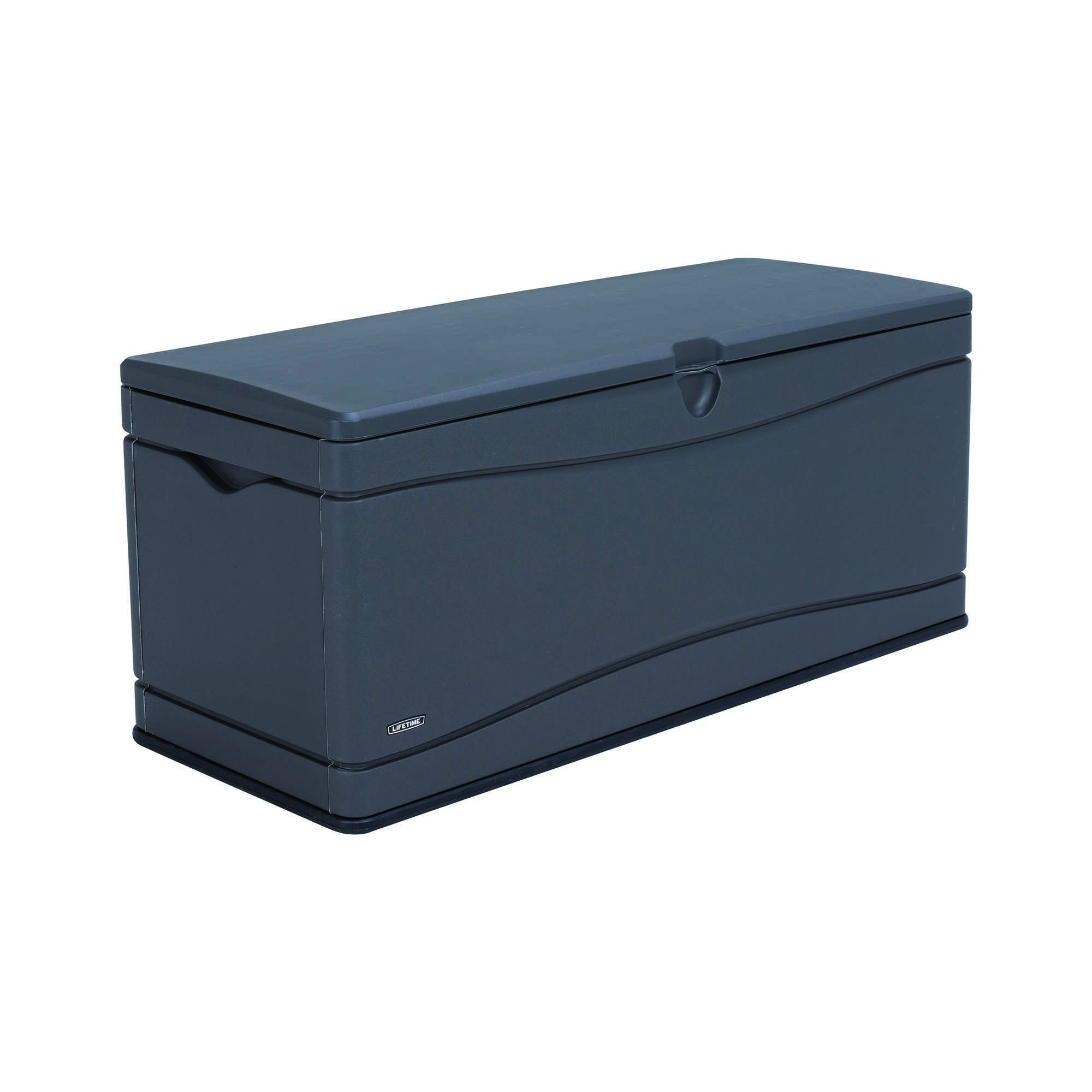Lifetime 500 Litre Plastic Outdoor Storage Box  - Dark Grey