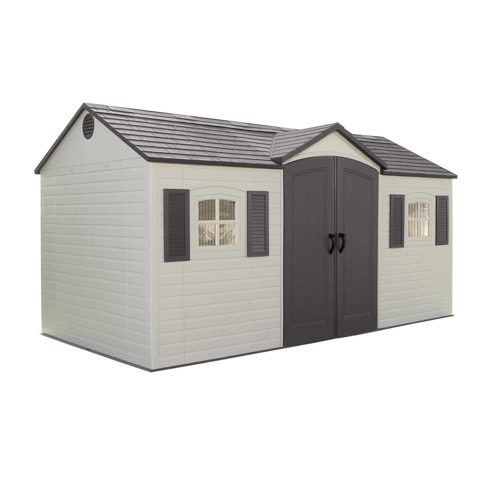 Lifetime 15x8 Single Entrance Plastic Shed