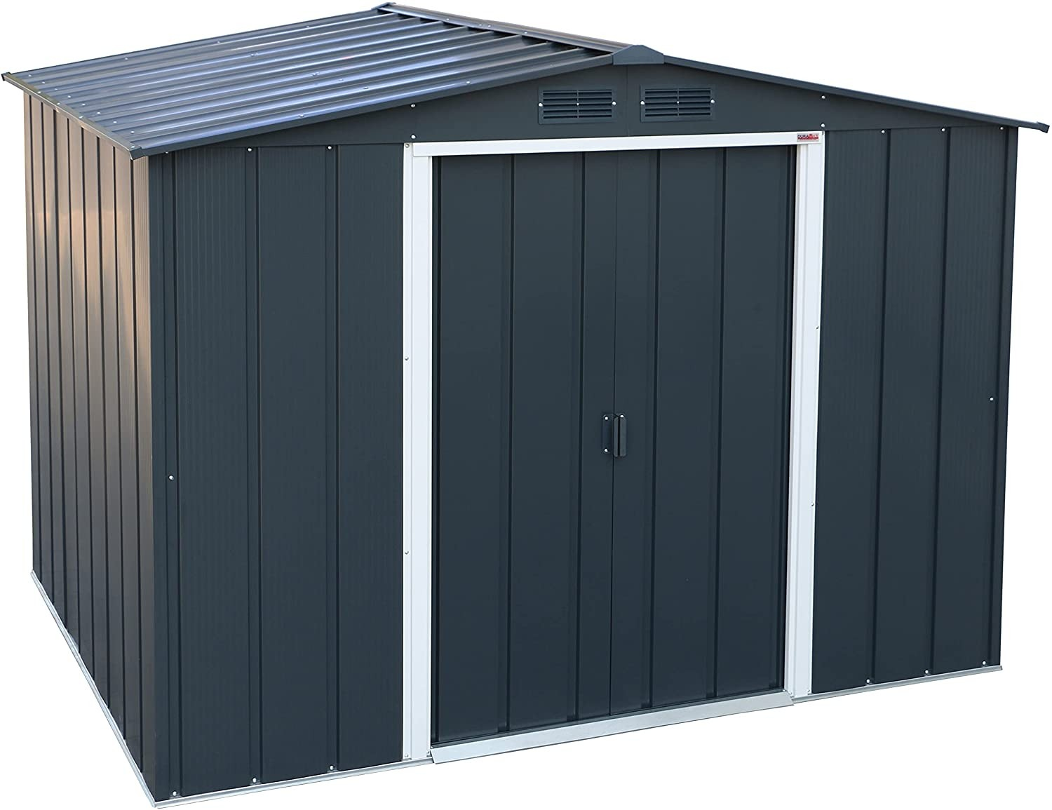 Sapphire 8x6 Metal Shed- Anthracite