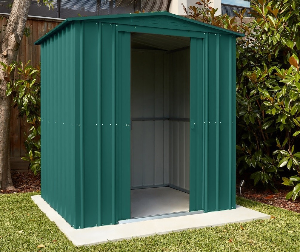 Lotus 6x4 Metal Shed Heritage Green Solid