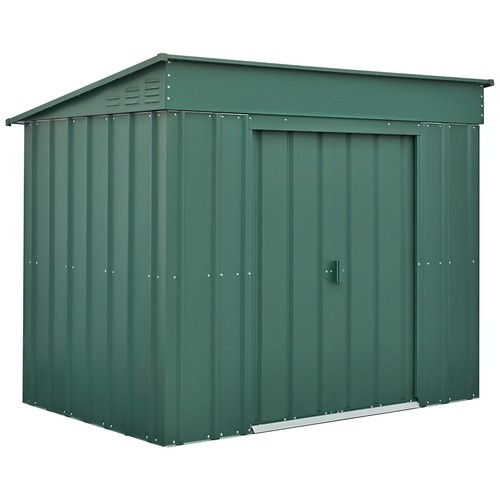 Lotus 6x4 Low-Pent Metal Shed - Heritage Green Solid