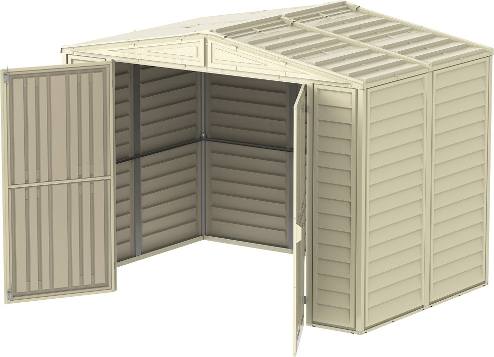 Saffron 8'x 5' Vinyl Shed (including Foundation Kit)