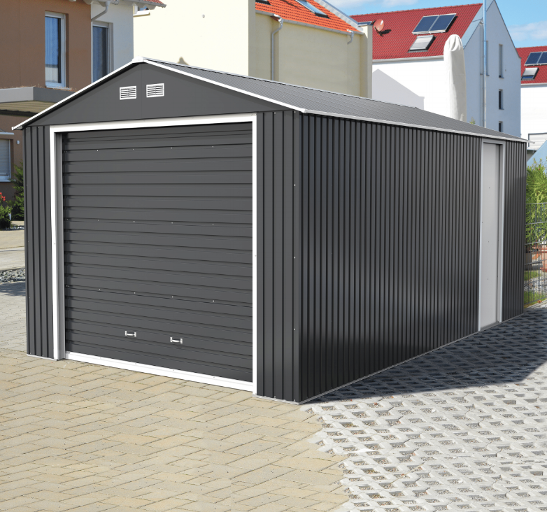 Sapphire Olympian Anthracite 12x38 Metal Garage