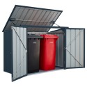 Lotus 5x3 Double Metal Bin Store  - Anthracite Grey Solid