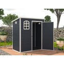 Jasmine 6ft x 3ft Plastic Pent - Dark Grey with Foundation Kit (included)