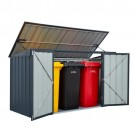 Lotus 7x3 Metal Bin Store - Anthracite Grey