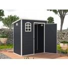 asmine 6ft x 3ft Plastic Pent - Dark Grey with Foundation Kit (included)